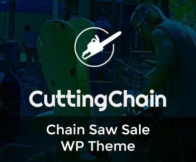 Cutting Chain - Chain Saw Sale WordPress Theme & Template