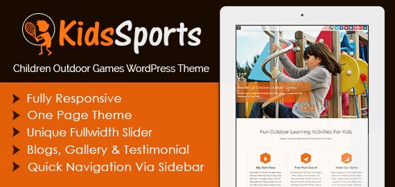 Children Outdoor Games WordPress Theme & Template | InkThemes