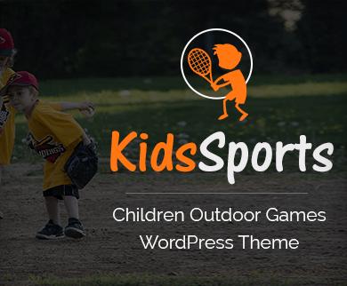 Kids Sports - Children Outdoor Games WordPress Theme & Template