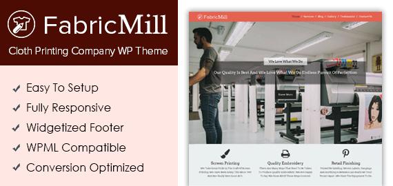 Cloth Printing Company WordPress Theme