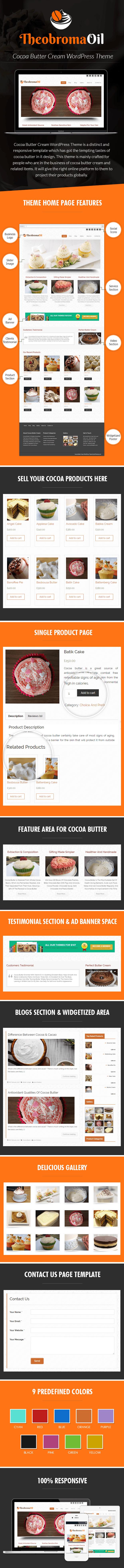 Cocoa Butter Cream WordPress Theme