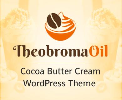 Theobroma Oil - Cocoa Butter Cream WordPress Theme & Template