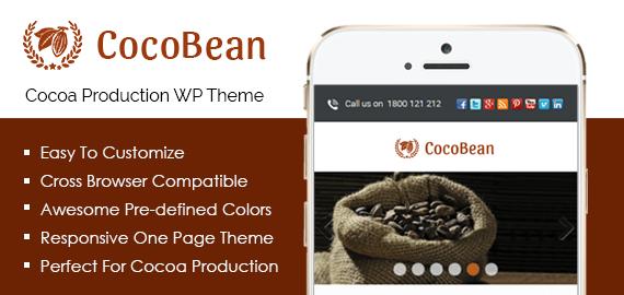 Cocoa Production WordPress Theme