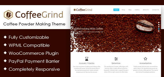 CoffeeGrind – Coffee Powder Making WordPress Theme
