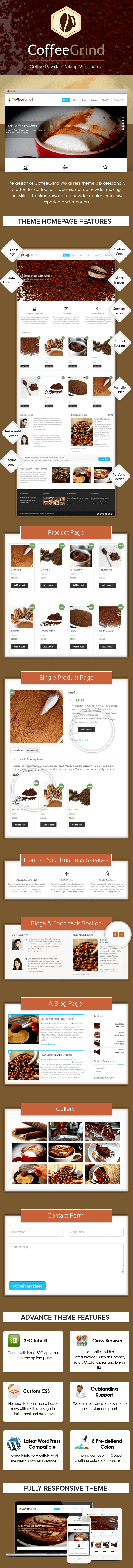 Coffee Powder Making WP Theme