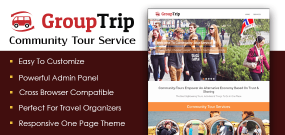 Community Tour Service WordPress Theme