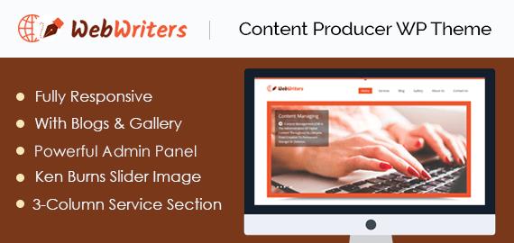 Content Producer WordPress Theme