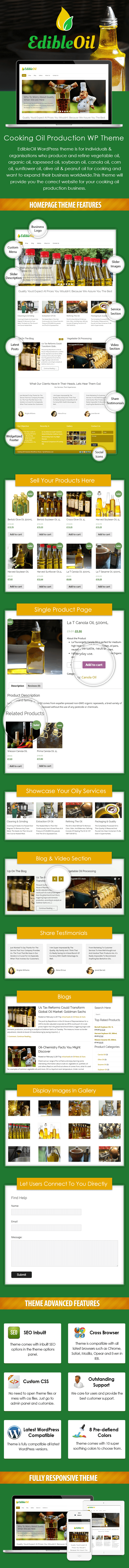 Cooking Oil Production WordPress Theme