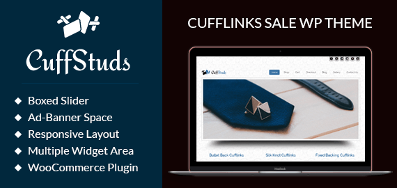 Cufflinks Sale WordPress Theme