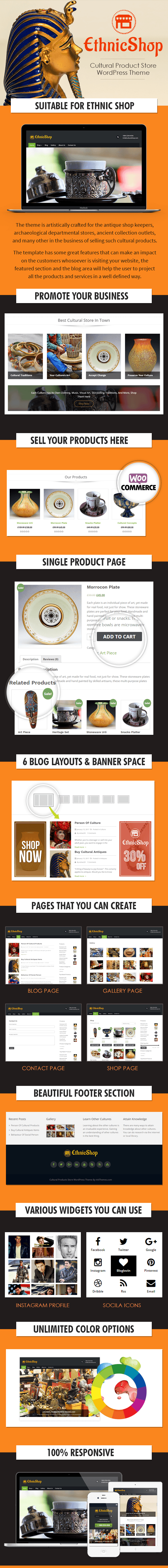 Cultural Products Store WordPress Theme