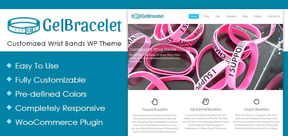 GelBracelet Customized Wrist Bands WordPress Theme