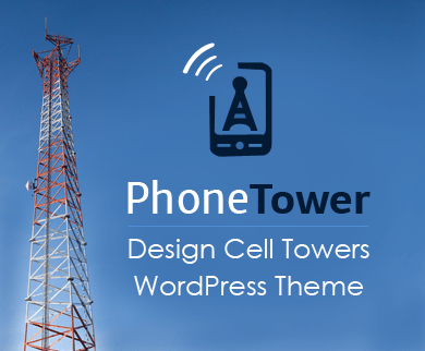 Phone Tower - Design Cell Towers WordPress Theme & Template