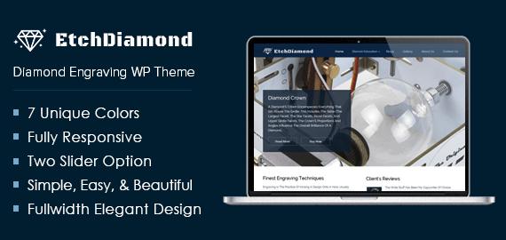 Diamond Engraving WordPress Theme