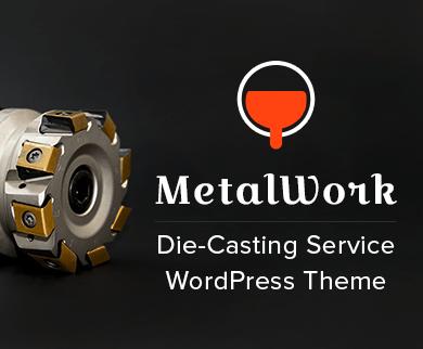 Metal Work - Die-Casting Service WordPress Theme & Template