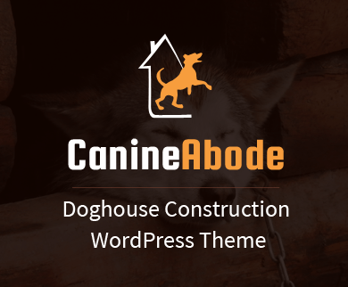 Canine Abode - Doghouse Construction WordPress Theme & Template