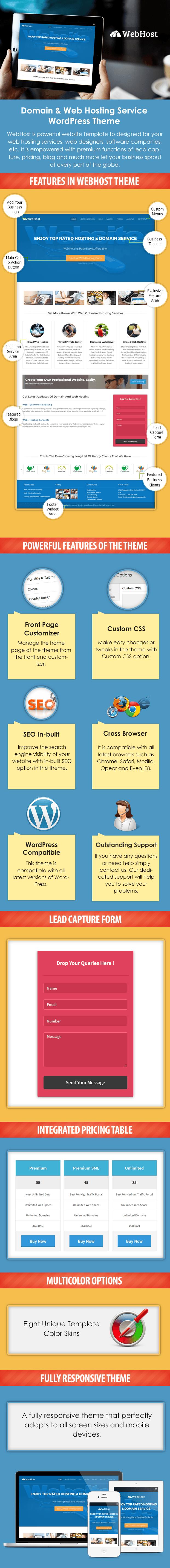 Domain And Web Hosting Service WordPress Theme Sales