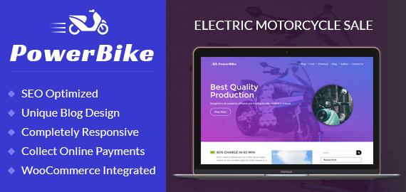 Electric Motorcycle Sale WordPress Theme