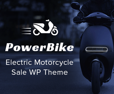Power Bike - Electric Motorcycle Sale WordPress Theme & Template