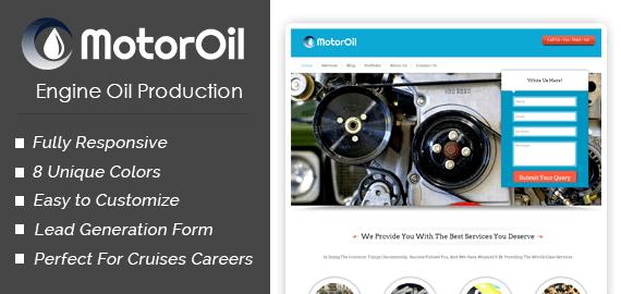 Motor Oil – Engine Oil Production WordPress Theme