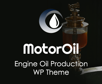 Motor Oil - Engine Oil Production WordPress Theme & Template