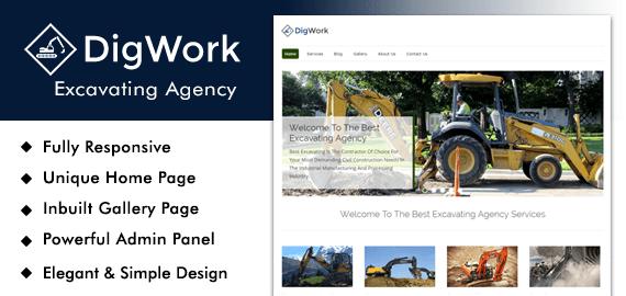 Excavating Agency WordPress Theme
