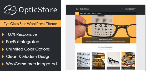 Eye Glass Sale WordPress Theme