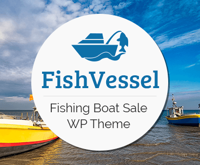 Fish Vessel - Fishing Boat Sale WordPress Theme & Template