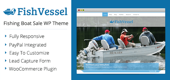 Fishing Boat Sale WordPress Theme