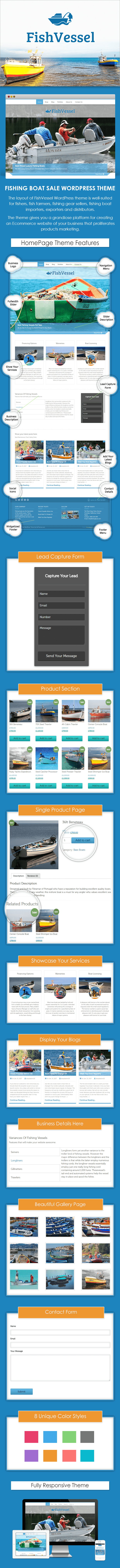 Fishing Boat Sale WP Theme
