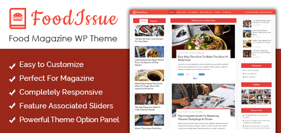 Food Magazine WordPress Theme
