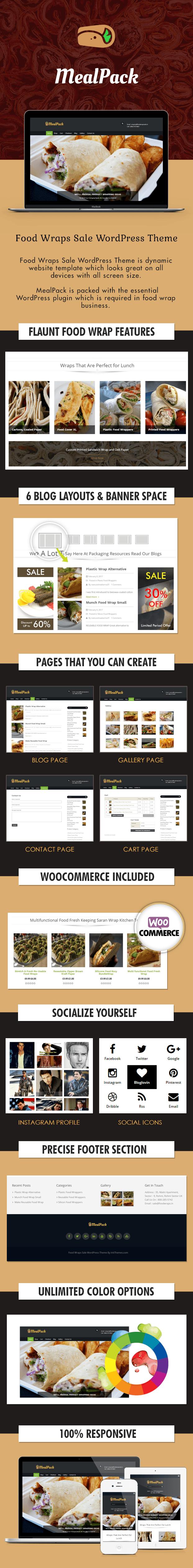 Food Wraps Sale WordPress Theme Sales