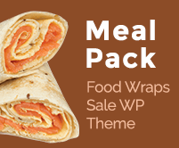 Meal Pack - Food Wraps Sale Restaurant WordPress Theme & Template