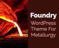 Foundry - Metallurgy WordPress Theme & Template