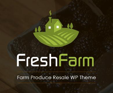 Fresh Farm - Farm Produce Resale WordPress Theme & Template