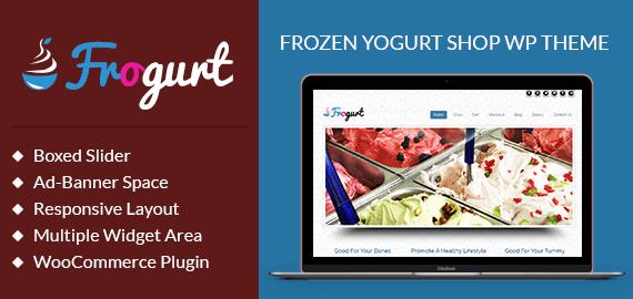 Frozen Yogurt Shop WordPress Theme