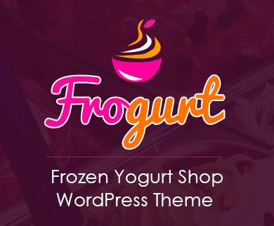 Frogurt - Frozen Yogurt Shop WordPress Theme & Template