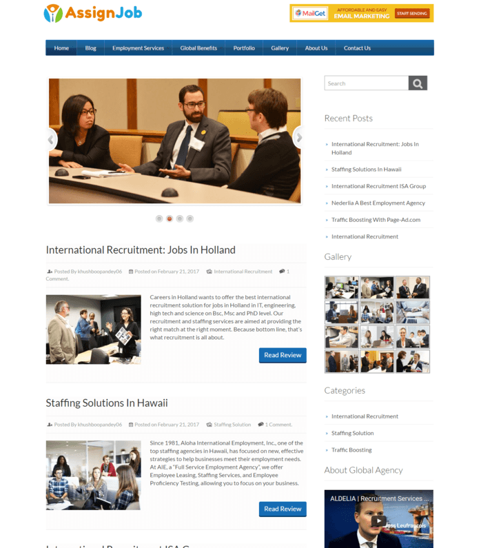 Global Employment Agency WordPress Theme