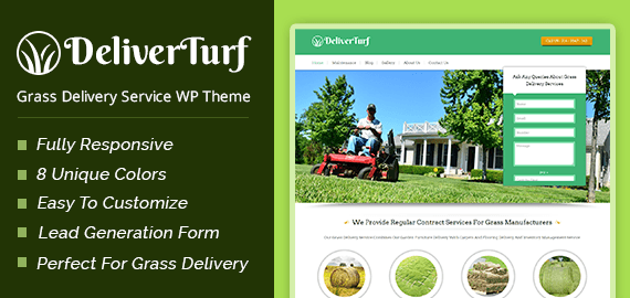 Grass Delivery Service WordPress Theme