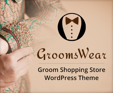Grooms Wear - Groom Shopping Store WordPress Theme & Template
