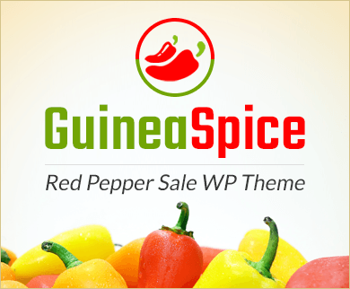 Guinea Spice - Red Pepper Sale WordPress Theme & Template