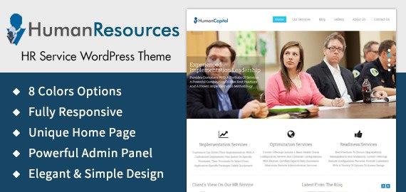 human resources hr service wordpress theme template inkthemes