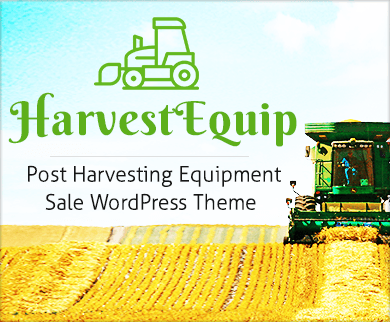 Harvest Equip - Post Harvesting Equipment Sale WordPress Theme & Template