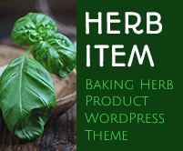 Herb Item - Baking Herb Product WordPress Theme & Template