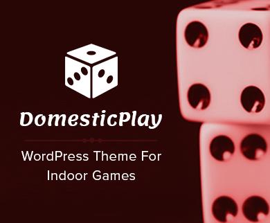Domestic Play - Indoor Games WordPress Theme & Template
