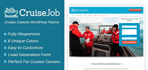 Cruises Careers WordPress Theme