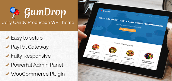 Gum Drop – Jelly Candy Production WordPress Theme