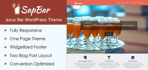 Juice Bar WordPress Theme