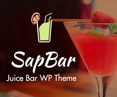 Sap Bar - Juice Bar WordPress Theme & Template