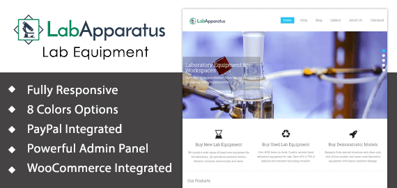 Lab Apparatus, Equipment Sale WordPress Theme | InkThemes