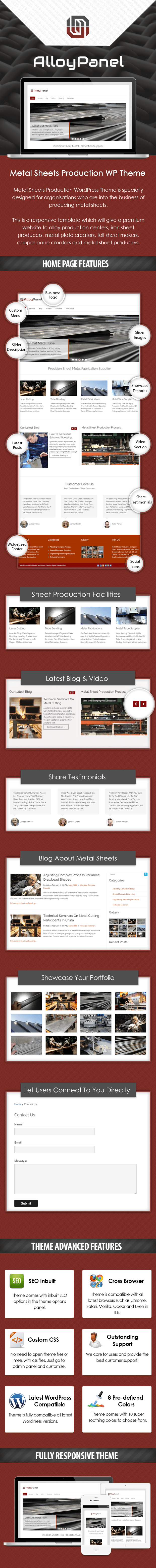 Metal Sheets Production WordPress Theme